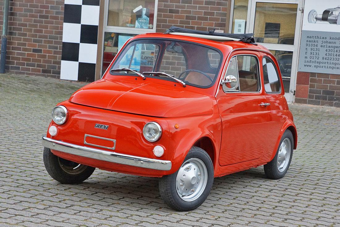 Fiat 500r Rosso Corallo Sporting Cars